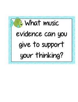 Speaking and Listening in Music