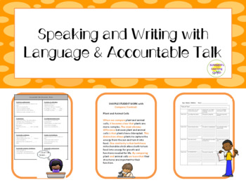 The Best Tools to support Speaking and Writing with Language & Accountable Talk!