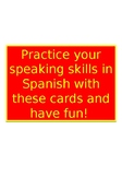 Speaking cards - ASK SOMEONE.../ PREGUNTALE A ....