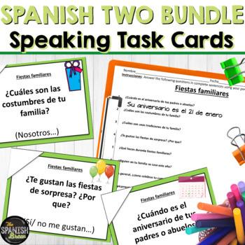 Speaking cards Spanish 2 MEGA BUNDLE
