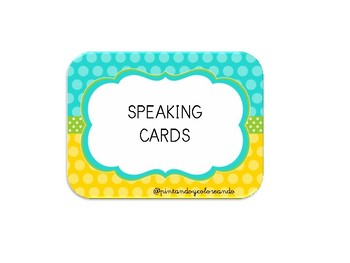 Speaking cards for ESL classrooms