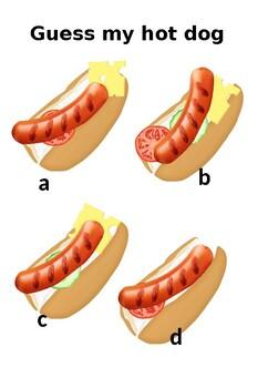 "Speaking game ""Guess my hotdog"""