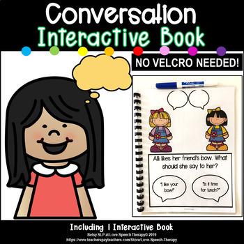 Speaking in Conversation Interactive Book - NO VELCRO NEEDED