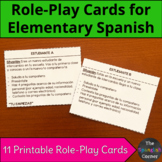 Spanish role-play cards   Speaking