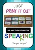 Speaking - introductions - FULL VERSION*** Printable