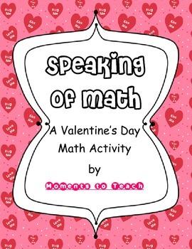 Speaking of Math: A Valentine Math Activity