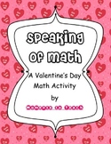 Speaking of Math: A Valentine Math Activity