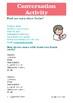 Spanish speaking activity / Practica de conversación