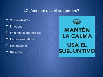 Speaking practice with the subjunctive