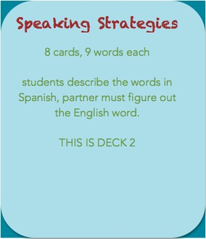Speaking strategy: Guess the word • Deck 2