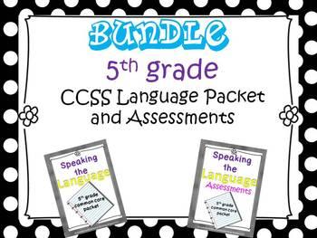 Speaking the Language BUNDLE (5th grade CCSS language)