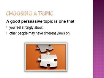 Speaking to Persuade - Persuasive speech presentation