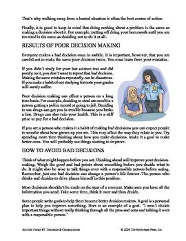 SpecEd Discipline: Decisions & Consequences