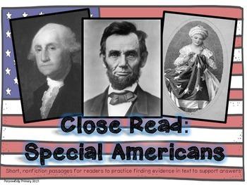 Special Americans Close Read