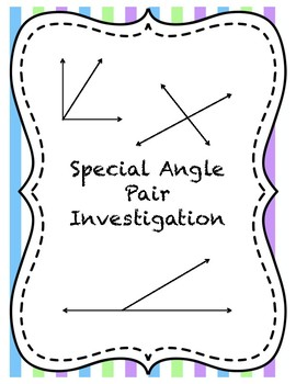 Special Angle Pair Investigation
