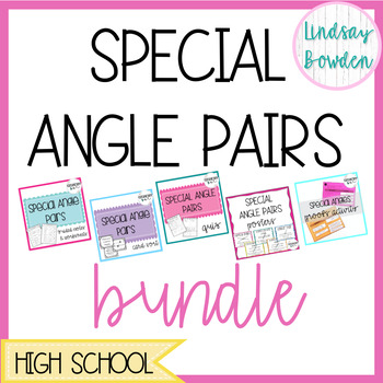 Special Angle Pairs Bundle By Geometry Gal Lindsay Bowden Tpt
