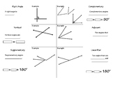 Special Angle Pairs Foldable with Exit Ticket
