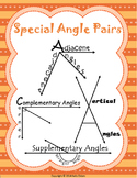 Special Angle Pairs Mini Posters SOL(2016) 8.5