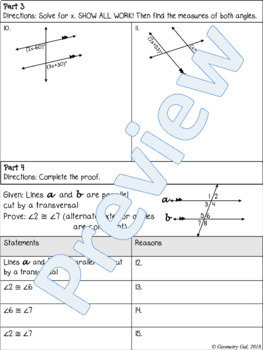 Special Angle Pairs Quiz