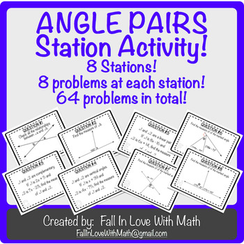 Special Angle Pairs Station Activity!