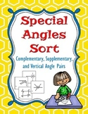Special Angle Sort - Complementary, Supplementary, and Ver
