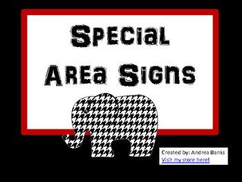 Special Area Signs