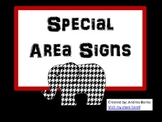 Special Area Signs