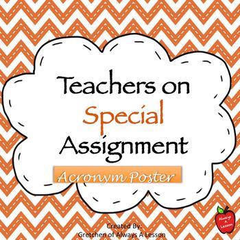 Special Assignment Acronym Visual