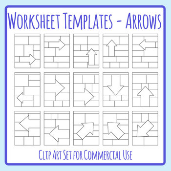 Special Attention Section Arrows / Directions Worksheet Template ...