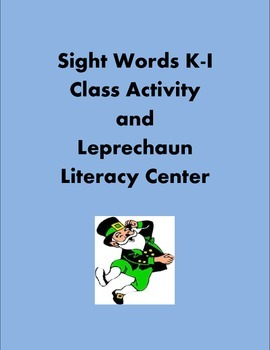 Special Bundle 2 Favorite Sight Words Literacy Centers K-I