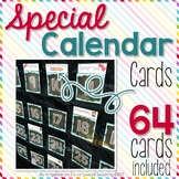 Special Calendar Cards for Pocket Chart Calendars
