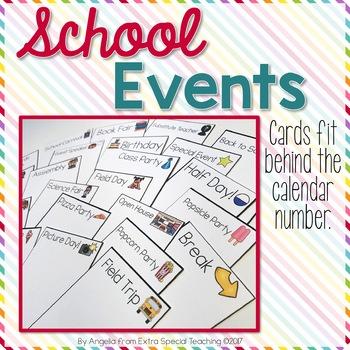 Special Calendar Cards for Pocket Chart Calendars
