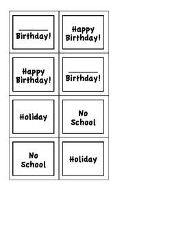 Special Calendar Dates