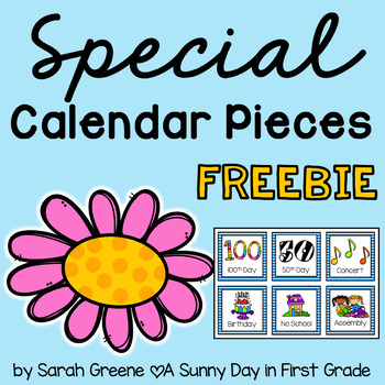 Special Calendar Pieces {freebie!}