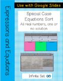 Special Case Equations Digital Sort
