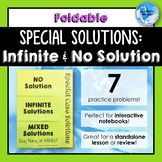 Special Case Solutions Foldable