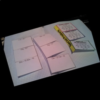Special Cases: Multiplying Binomials Interactive Notebook Page