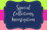 Special Collections Investigative Worksheet - Editable