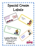 Special Cream Labels