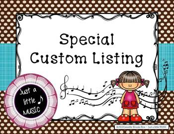 Special Custom Listing for Bethany Wiberg