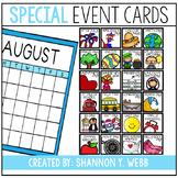 Special Event Calendar Cards