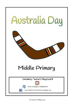 Special Days/Holiday Themed Activity Book - Australia Day (Middle Primary)