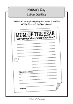 Special Days/Holiday Themed Activity Book - Mother's Day (Middle Primary)