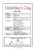 Special Days/Holiday Themed Activity Book -  Valentine's Day (Middle Primary)