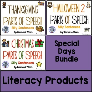 Special Days Parts of Speech Silly Sentences Bundle