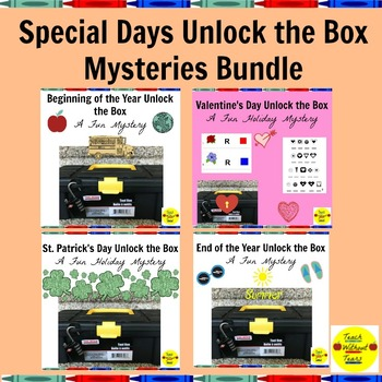 Special Days Unlock the Box Mysteries Bundle: 7 Fun Mysteries
