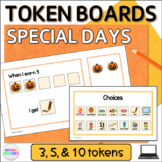 Special Days and Holidays Token Boards Visual Reward Charts for Google Slides™