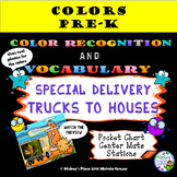 Special Delivery Trucks to Houses: Pocket Chart and Contai