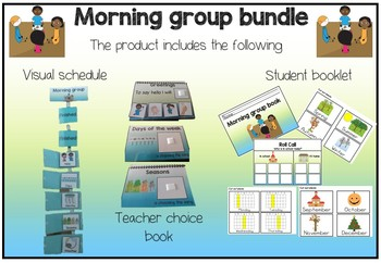 Special Ed, Autism, morning group calendar