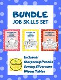 Special Ed Job Skill- Wiping Tables/Sorting Silverware/Sha